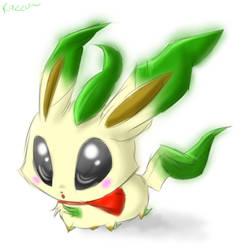 Lil Leafeon by Kazzuku