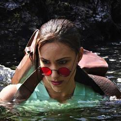 Lara Croft Goes for a Swim