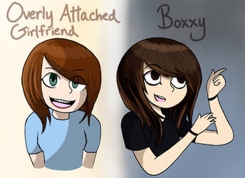 Boxxy and Overly Attached GF by Kazia-Kat