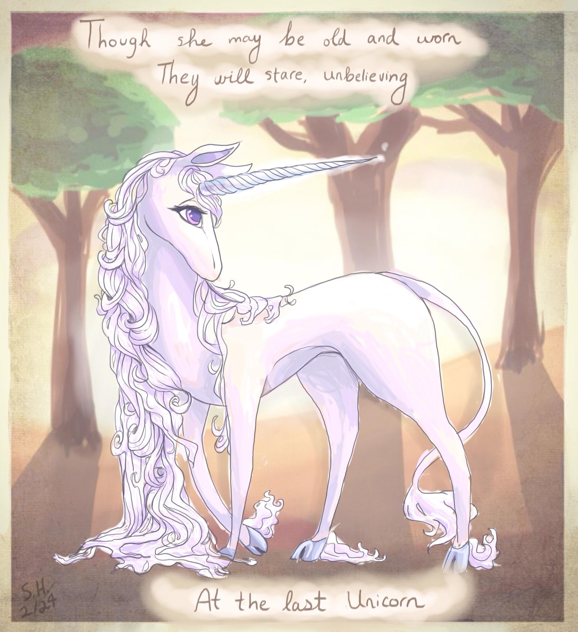 last unicorn by Kazia-Kat