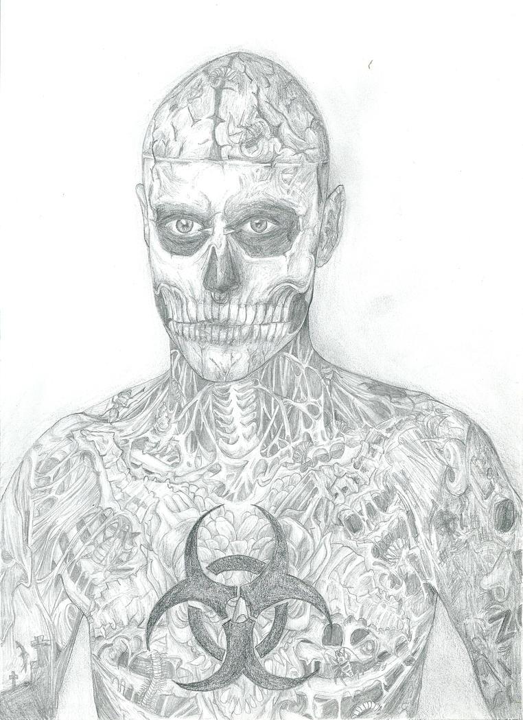 Rick Genest aka Zombie boy by AnnaBitti