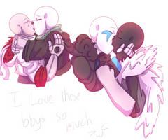 Cute kisses by BrassWarrior