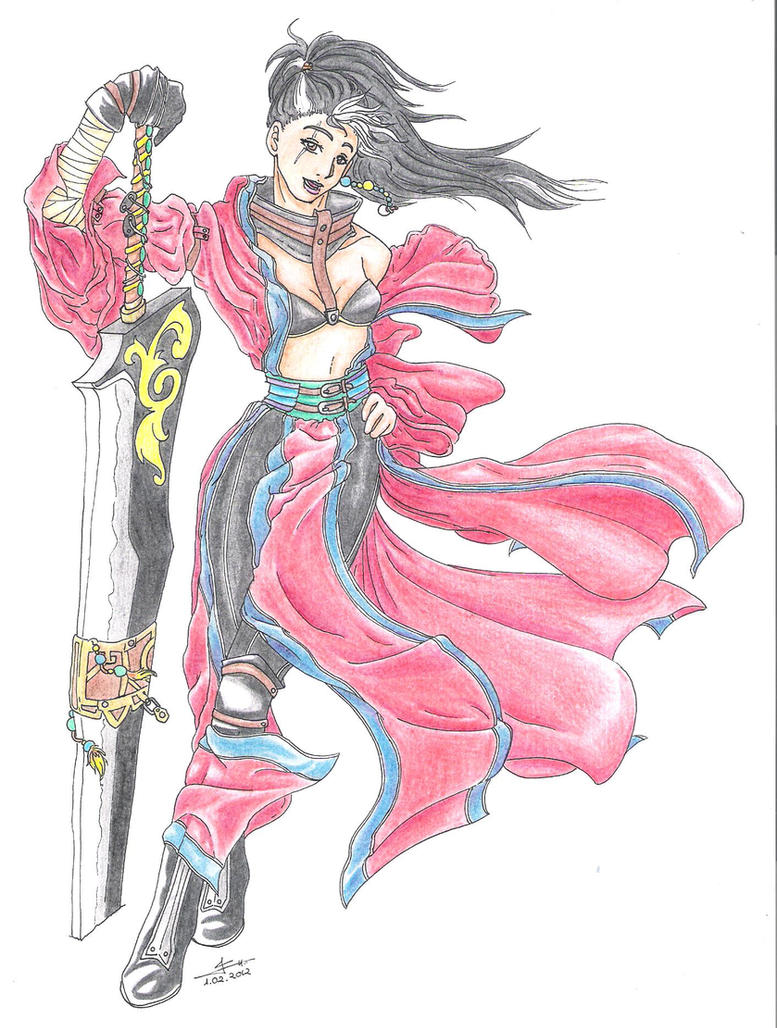 Genderbend Auron by o0KaoruyHikaru0o
