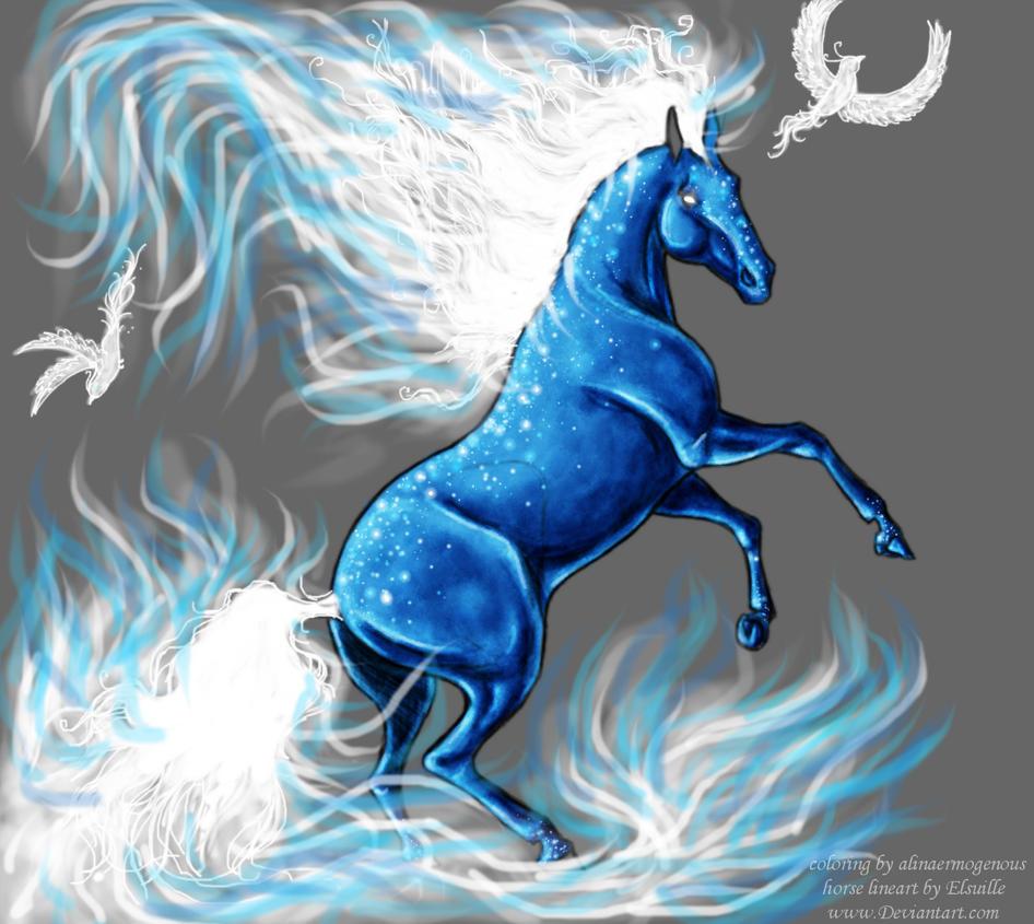 Blue fantasy horse by nanalina20 on deviantart blue fantasy horse by nanalina20 voltagebd Images