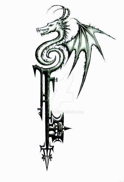 Dragon Keyblade by Avez-F