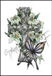Cross, Orchids and Butterflies
