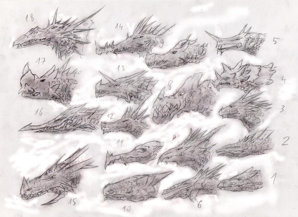 Dragonheads study2 by Random223