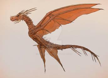 4 winged dragon by Random223