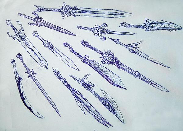 Weaponry sketch 1 by random223