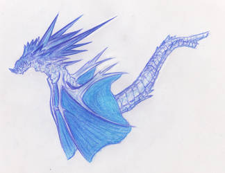 Plue dragonlike iceling by Random223
