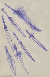 Weaponry sketch 16 by Random223