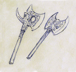 Weaponry sketch 86 2 axe by random223