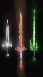 The 3 enchanted blades by Random223