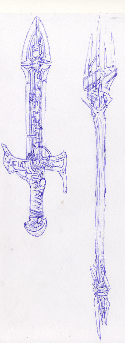 Weaponry sketches 144 by random223