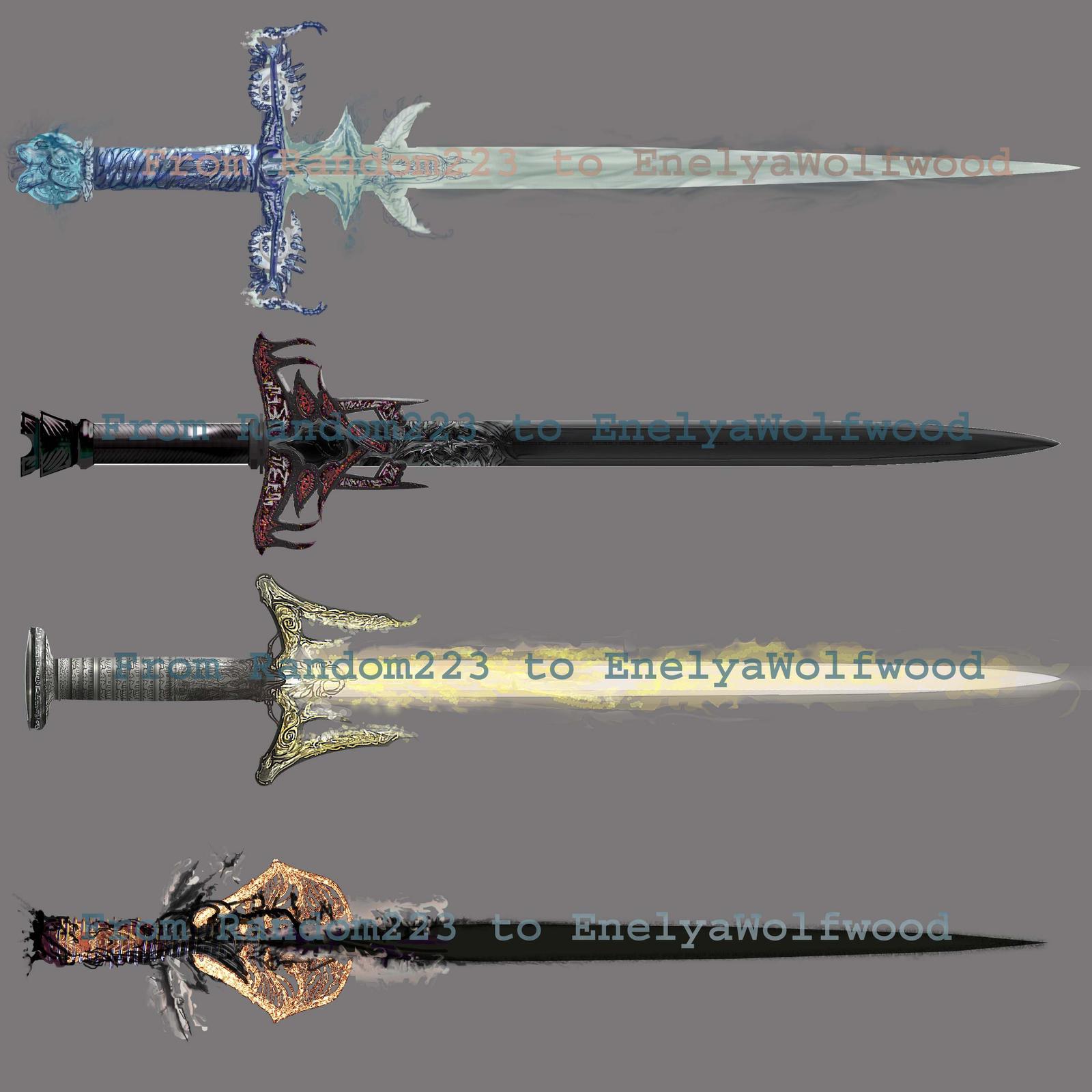 Weaponry 318 Dragon Swords2  by Random223