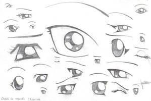 manga eyes by x3mOgirlx