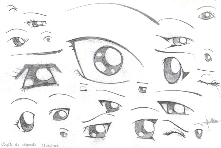 How To Draw Manga Eyes By X3mogirlx On Deviantart How To Dr Card