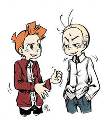 Spirou and Fantasio by lisaharald