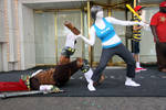 Wii Fit Trainer Throwing Ganondorf
