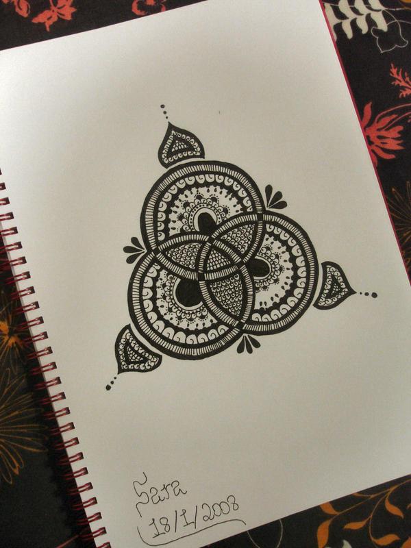 Three - flower tattoo