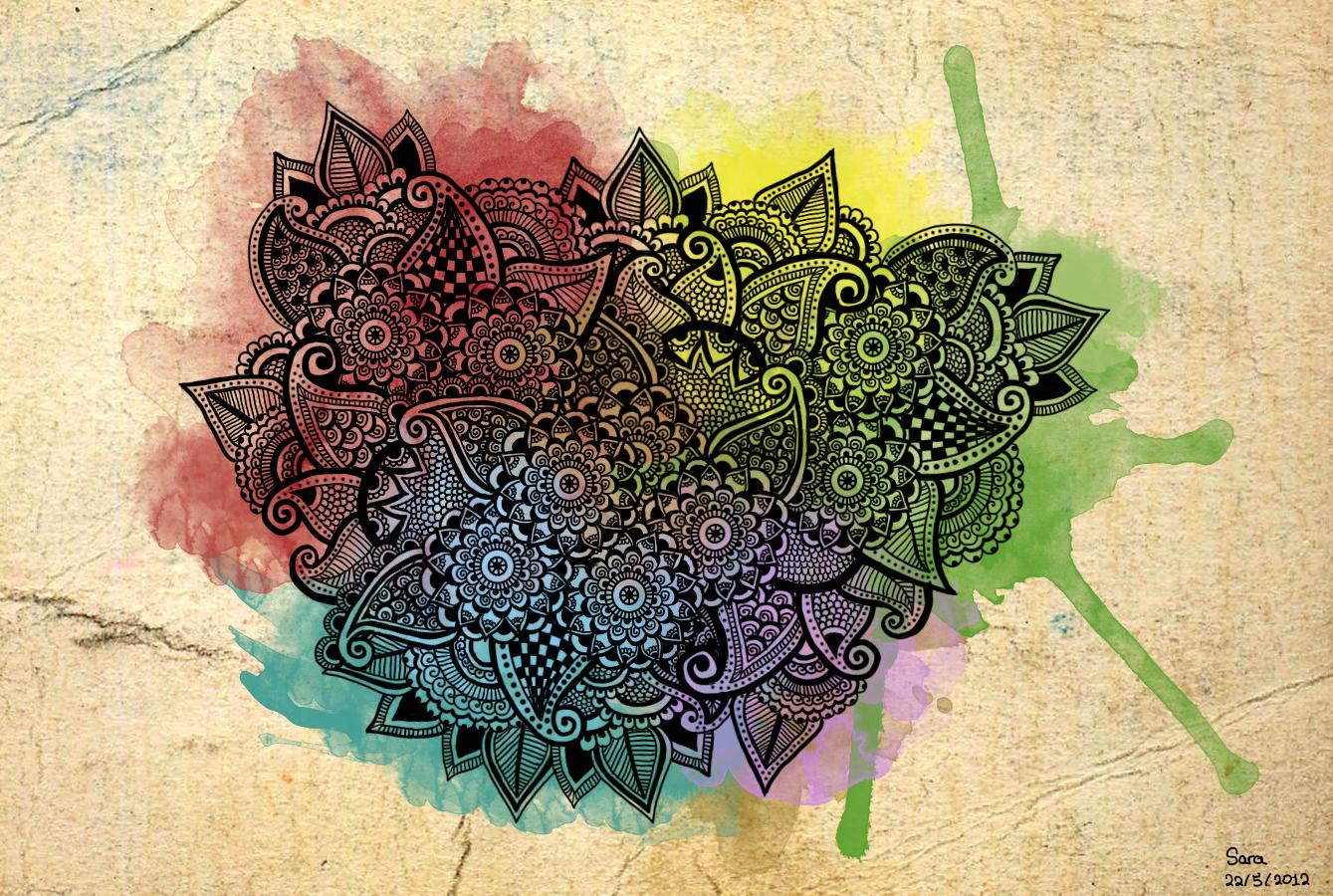 colorful henna by penitblack on deviantart
