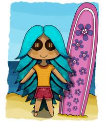 Surfer Doll by pen-it-black