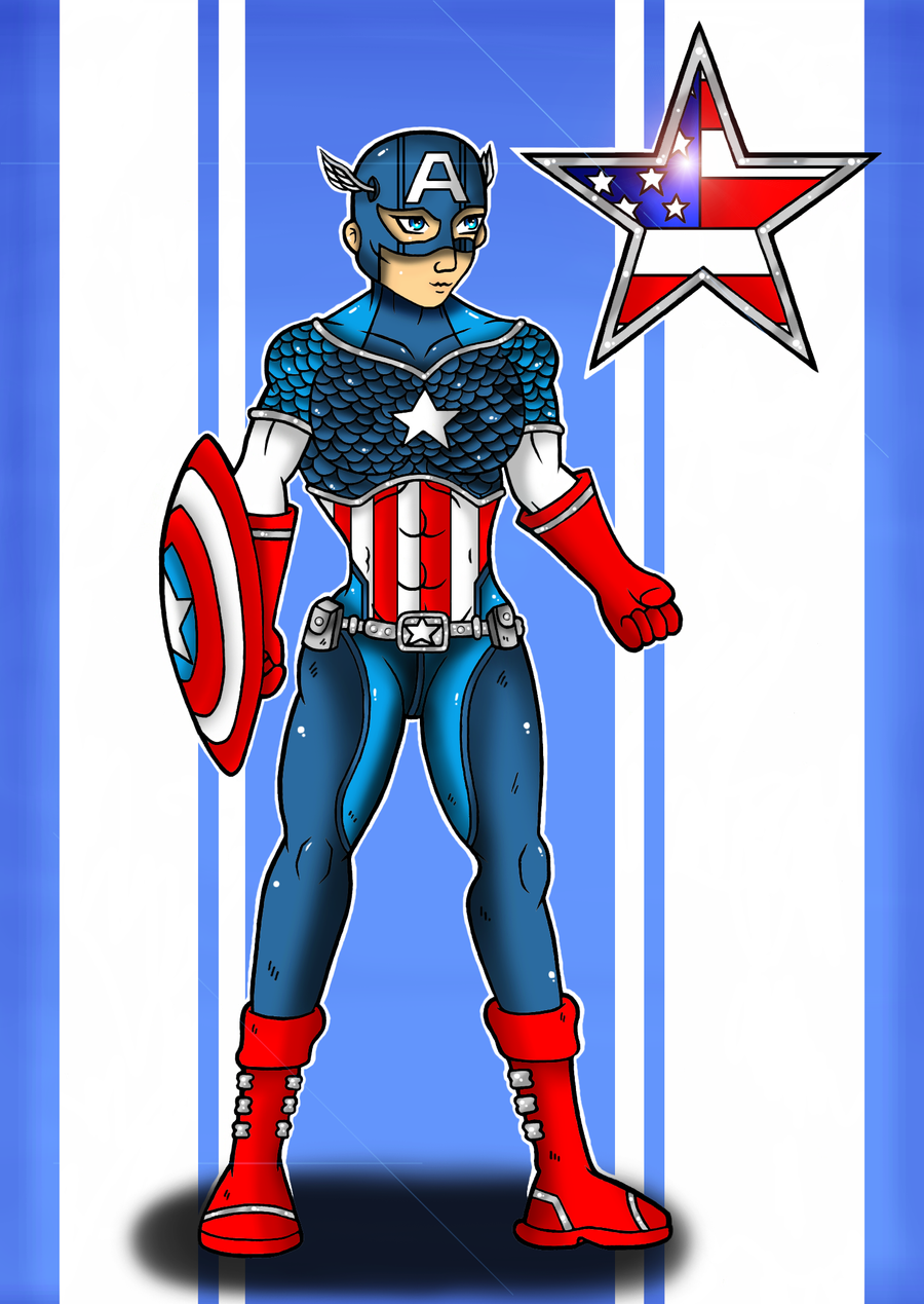 Captain America by Flash-of-Lingt
