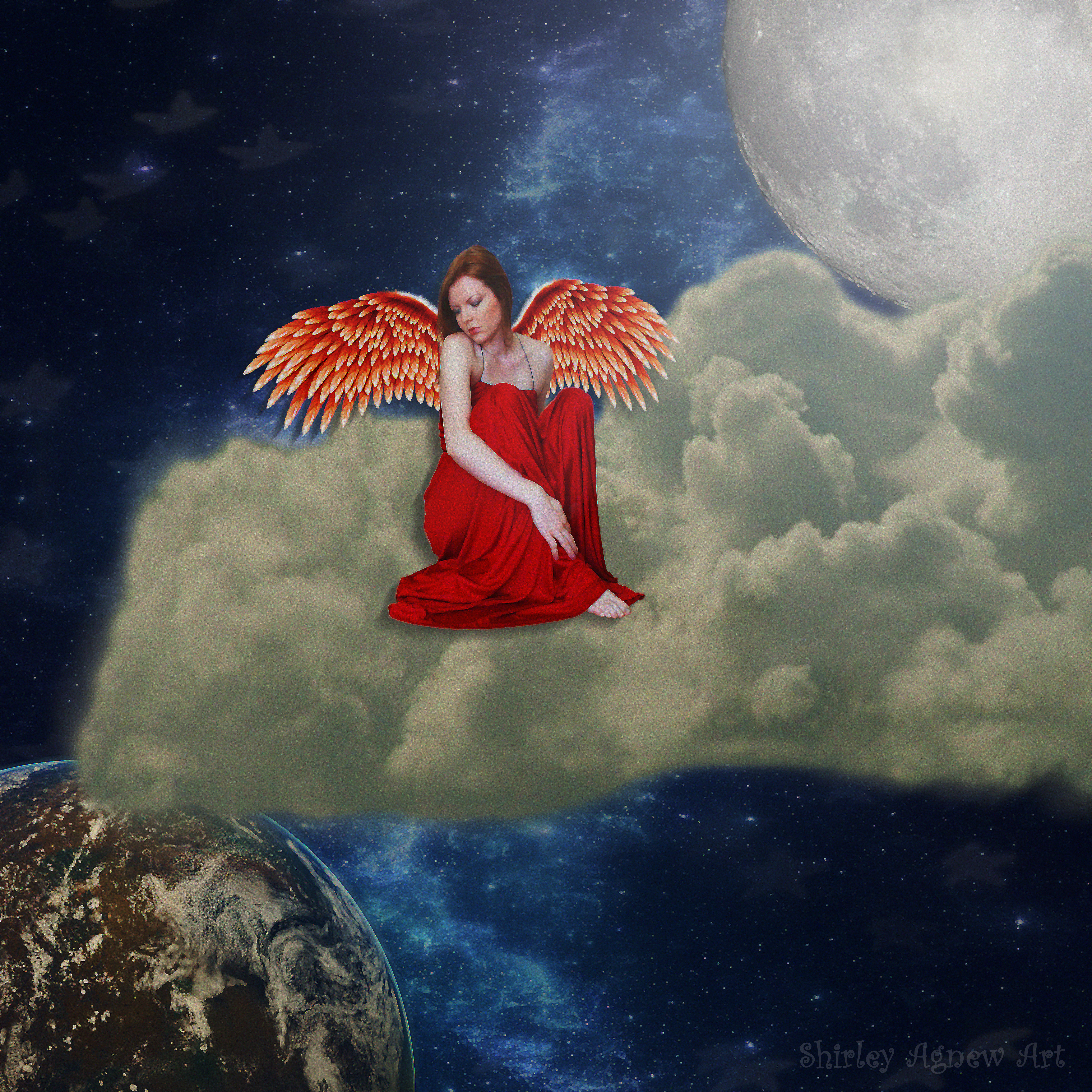 Guardian Angel For Nick by Shirley-Agnew-Art