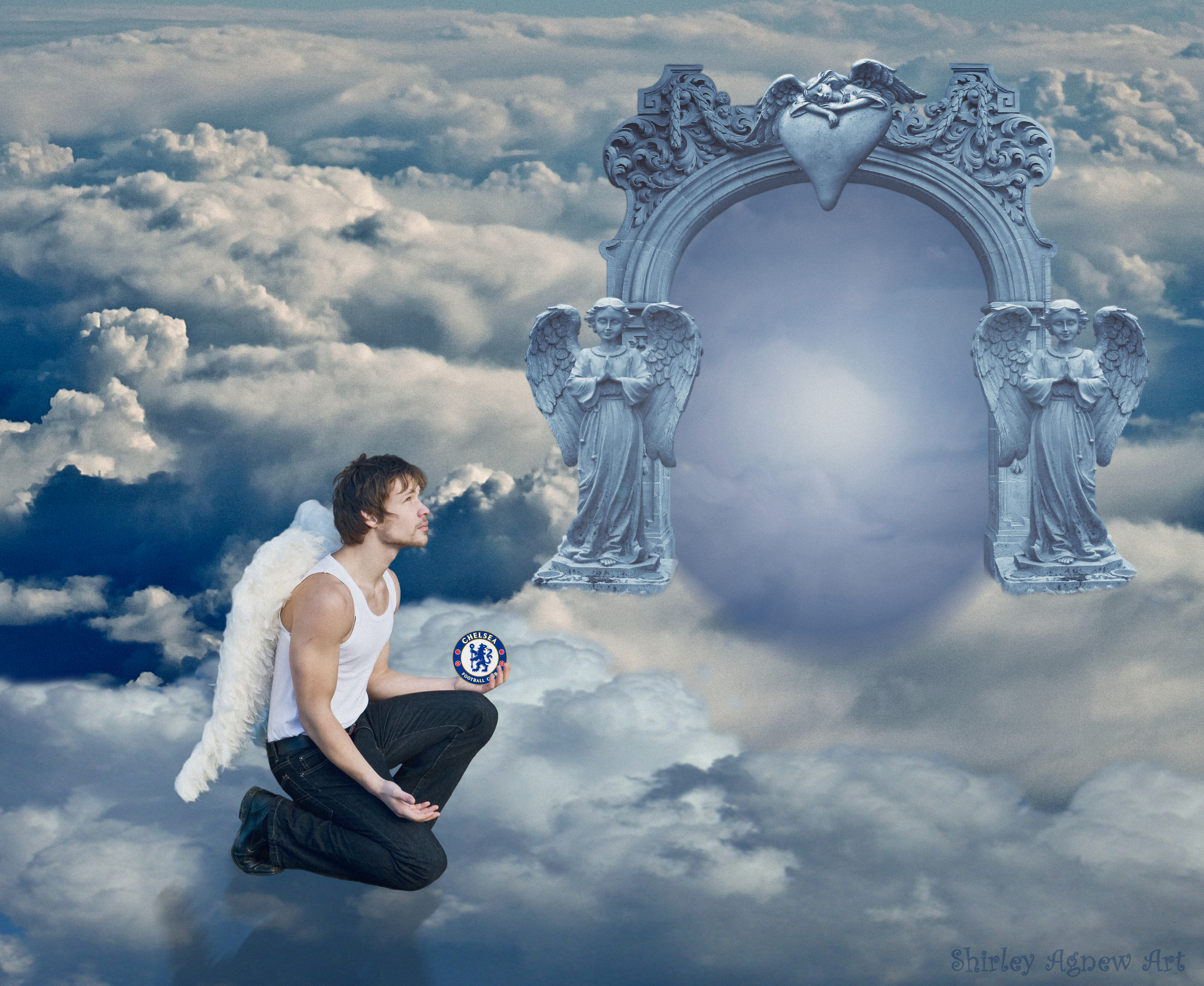 My Blue Heaven ~ For Nick by Shirley-Agnew-Art