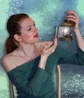 Fairy Light by Shirley-Agnew-Art