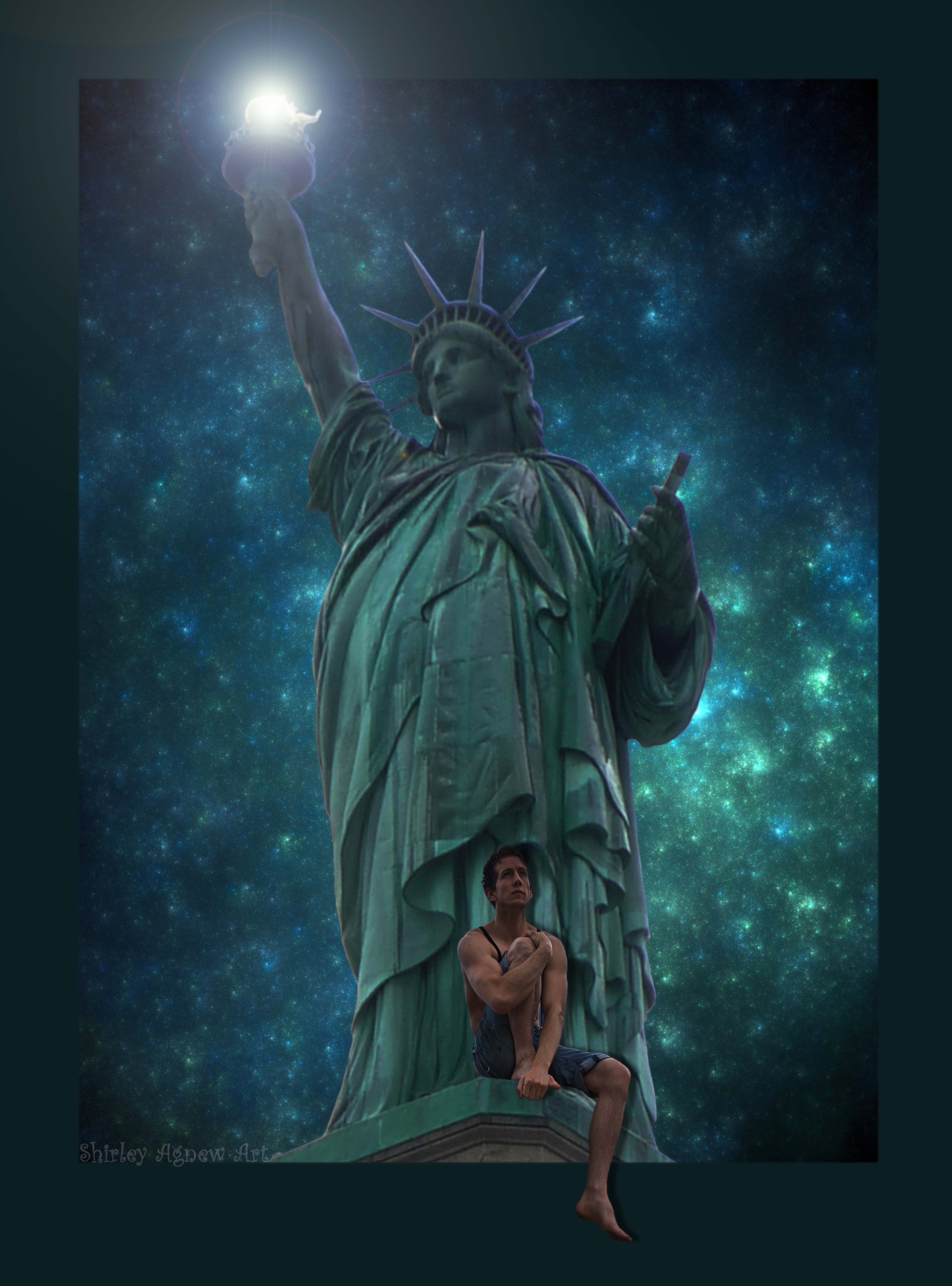 The Only Living Boy In New York by Shirley-Agnew-Art