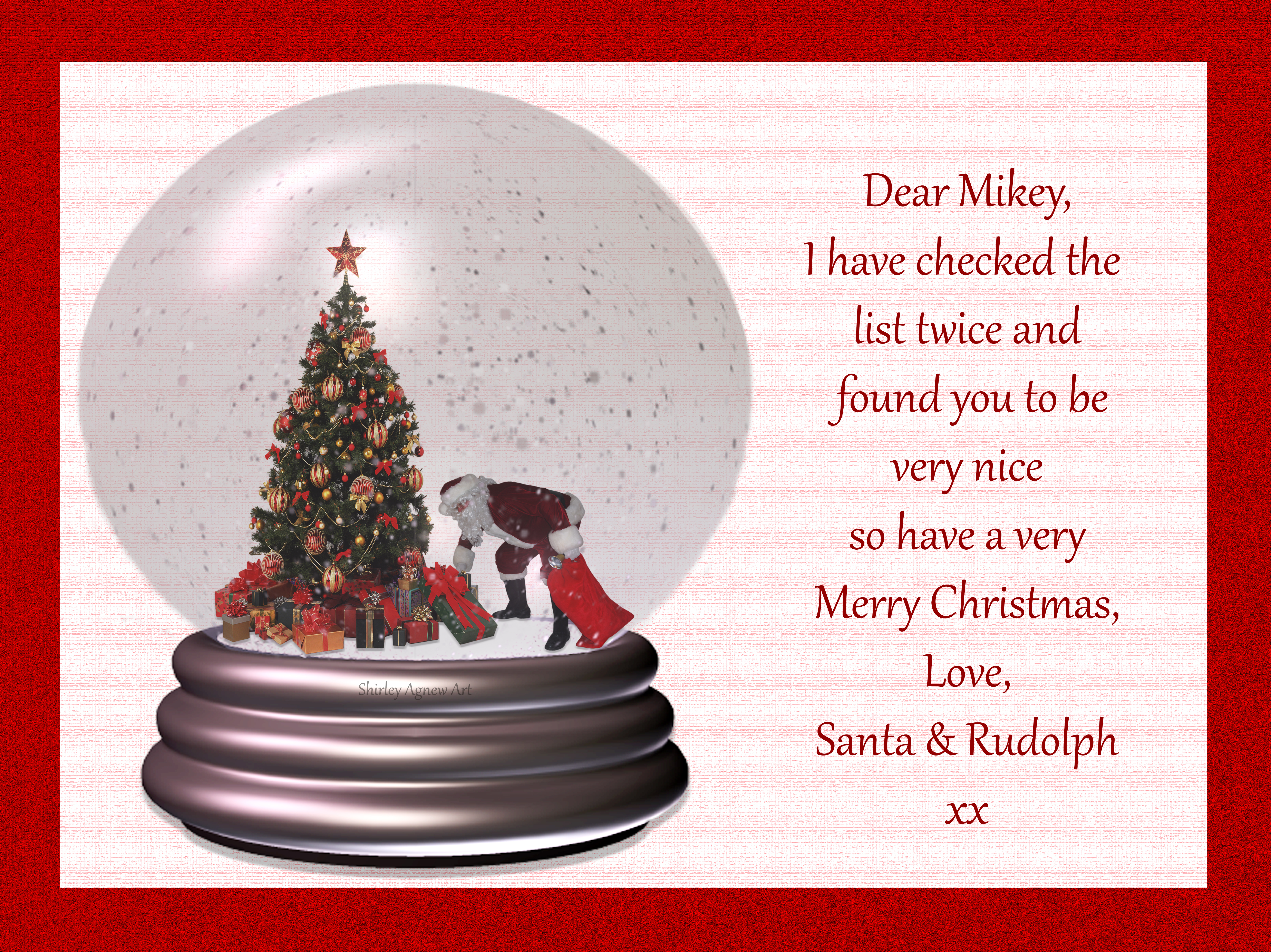 Christmas Snowglobe ~ For Mikey