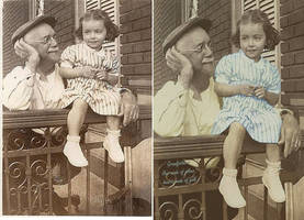 Denyse and Grand-Pa Rho - Before and After