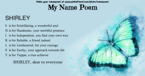 Name Poem by Shirley-Agnew-Art
