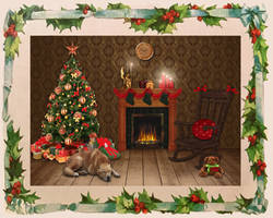 The Night Before Christmas by Shirley-Agnew-Art