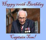 Happy 100th Birthday Captain Tom! by Shirley-Agnew-Art