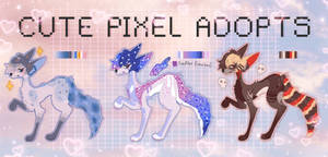 Cute pixel adopts (OPEN) + customs