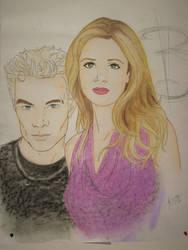 Spike + Buffy by lexophile42