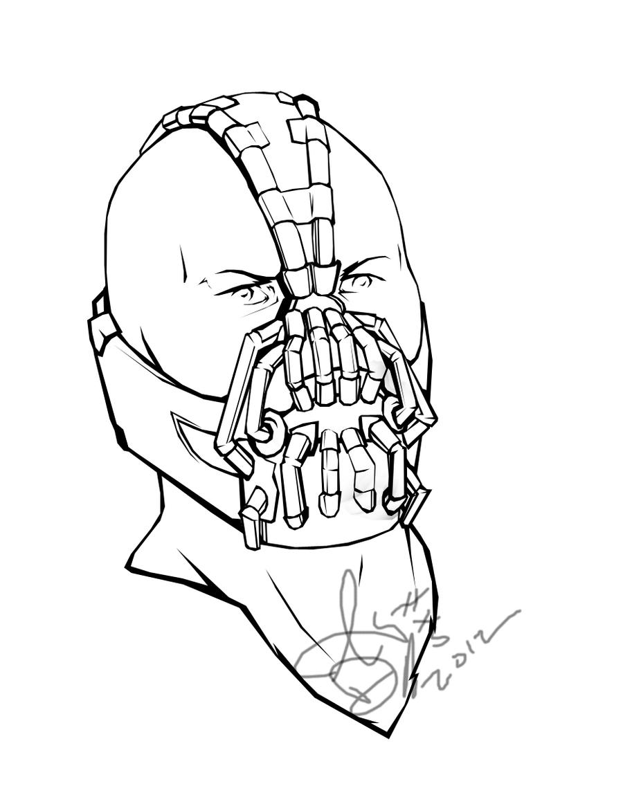 bane from batman coloring pages - photo#7