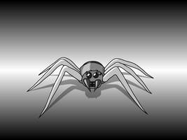 Grey Hunting Spider by Scarzzurs