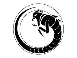 BlacknWhite Serpent by Scarzzurs