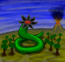 Giant Worm by Scarzzurs