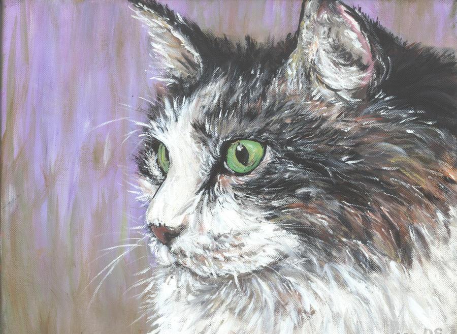 green eyes by acrylicwildlife
