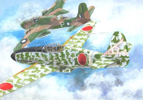 Ki-61 hein and A-20 RAAF