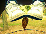 Little Feet and Little Leaves by surrealistique