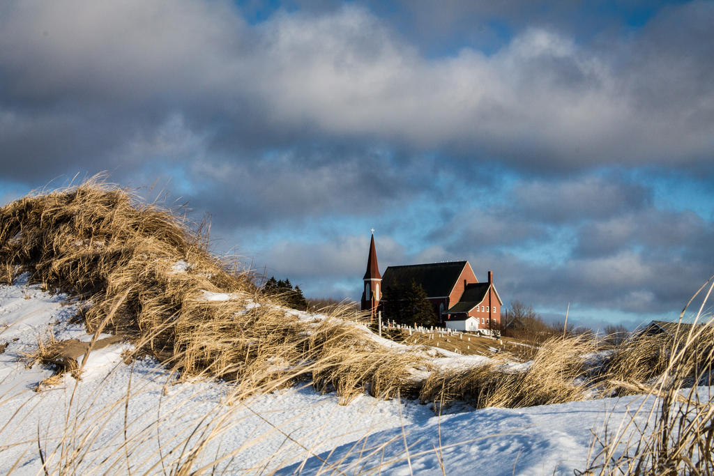 Church From the Frozen Beach by steverankin