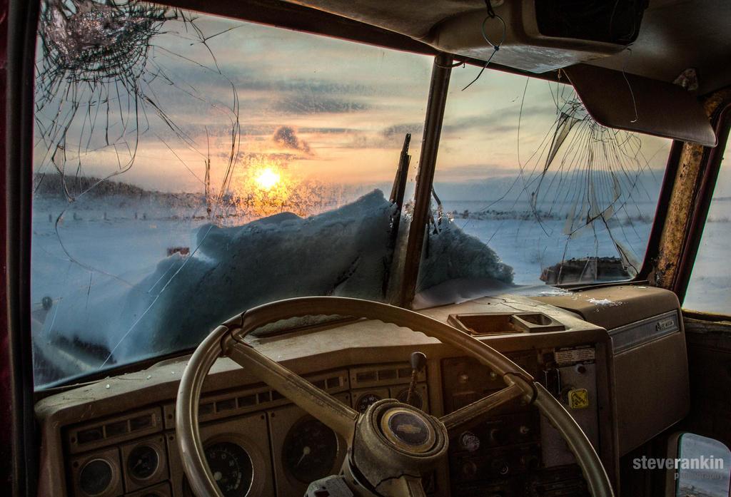 Dump Truck Sunset by steverankin