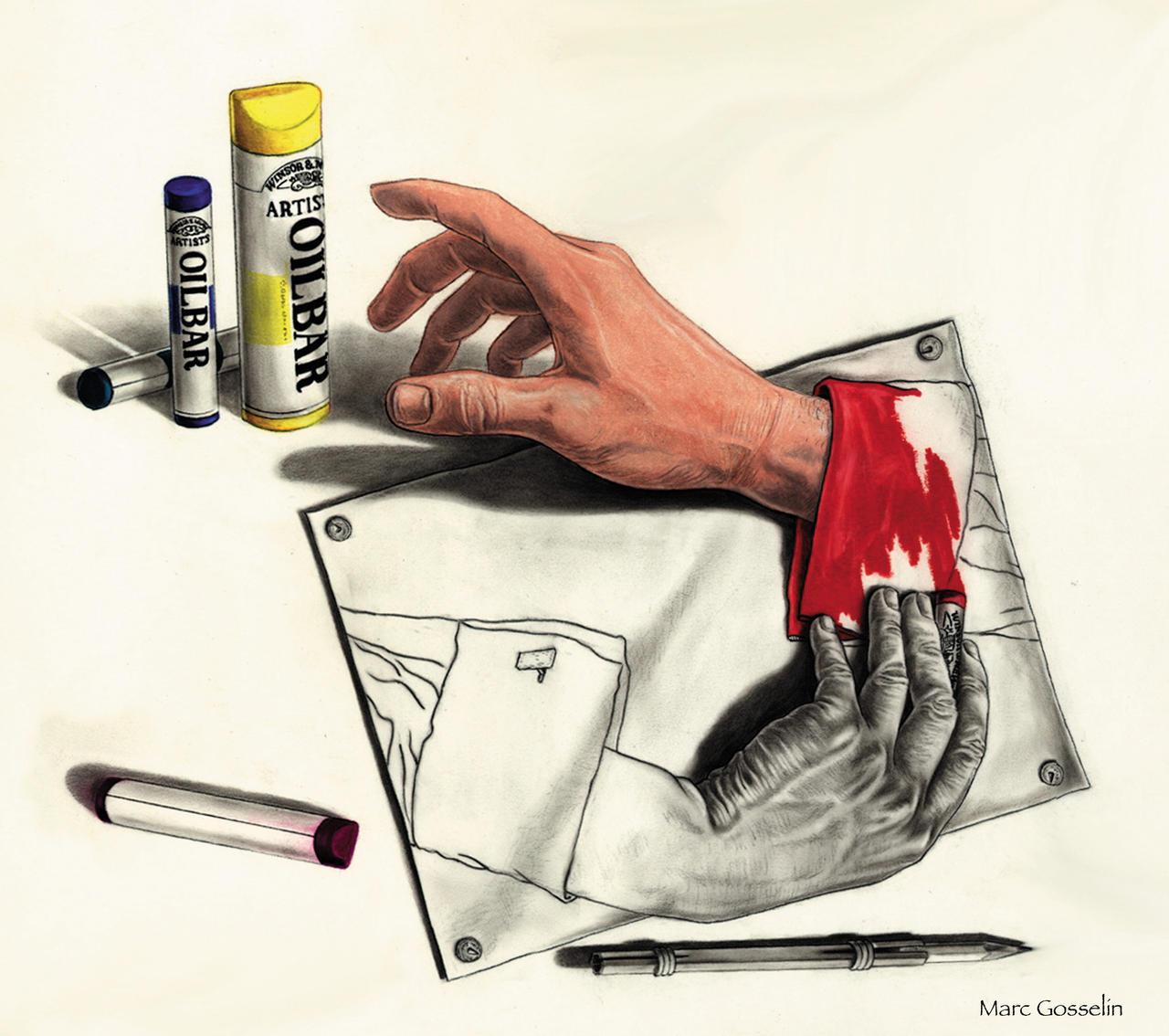 Homage to Escher by marcgosselin