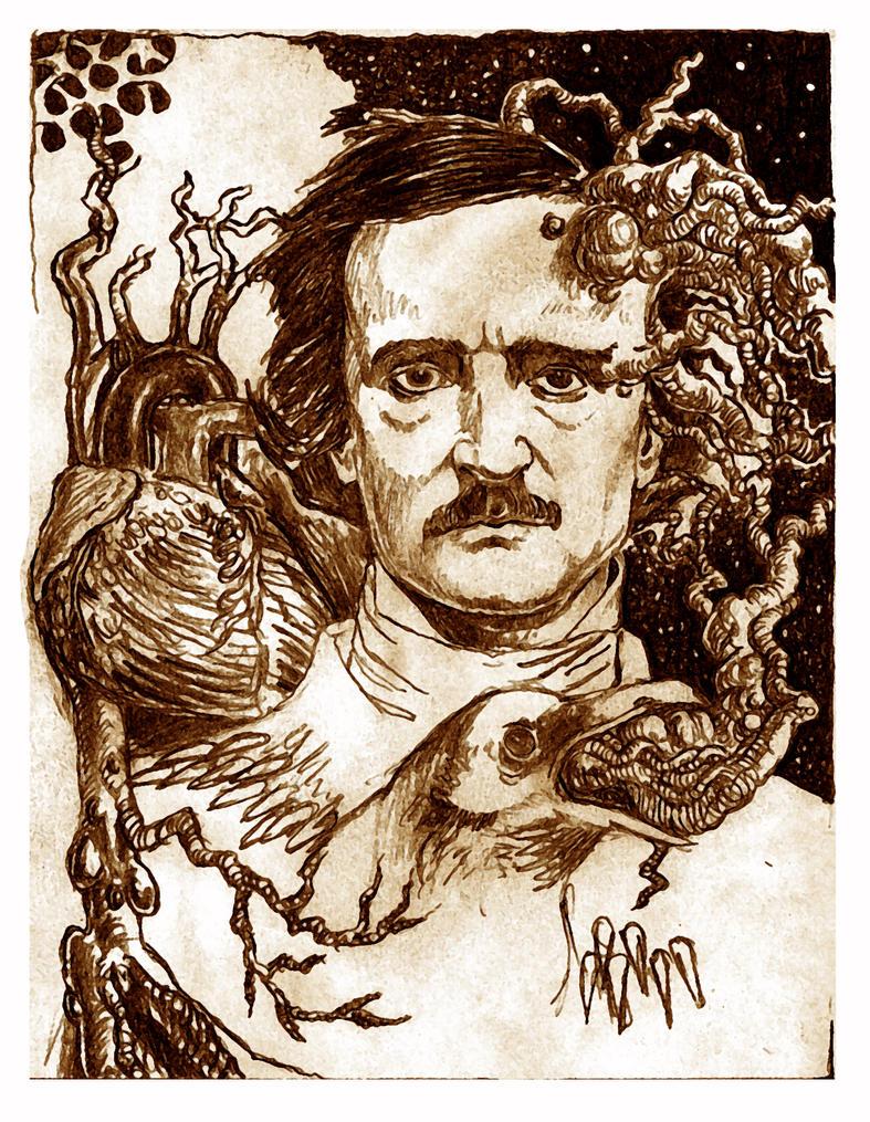 Edgar Alan Poe, 3 by marcgosselin