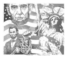 ANACHROPIA, Abraham Lincoln Verses The Alilens by marcgosselin